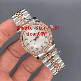 Senhoras assistir preço mais baixo on-line-Relógio de luxo Melhor Qualidade Presidente Diamante Bezel Mulheres Relógios Inoxidável Menor Preço Das Senhoras Relógio de Pulso Mecânico Automático Das Senhoras 31mm