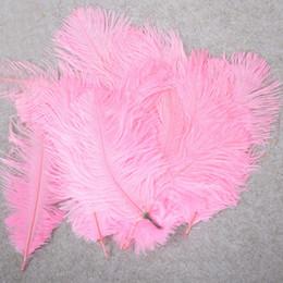 10-12 pollici piuma di struzzo vera piuma naturale per decorazioni per la casa decorazioni per matrimoni, confezione da 100 (rosa) da decorazione della scatola chiara del fiore fornitori