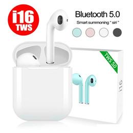 2019 universal-blade-gehäuse Neue i16 TWS Bluetooth 5.0 Headset mit Ladegerät Box Zwillinge Wireless Earbuds für iPhone X iOS Android Samsung mit Retail-Paket günstig universal-blade-gehäuse