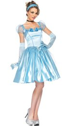Argentina Caiga el envío Sexy Ladies Cinderella Princess Fancy Dress Costume Plus Size Womens Outfit cheap plus size ballet dress Suministro