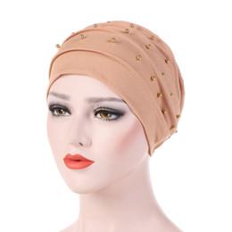 Argentina Diseño de Moda de lujo de las mujeres Estilo Americano Retro Joyería de Los Granos Headwrap Desgaste Cáncer Chemo Accesorios Para el Cabello Turbante Elástico CHCT56 Suministro