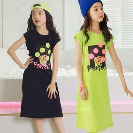 Marche korean dei vestiti del bambino online-Stile coreano Neonato Stampa Modello Abito in cotone Estate Nuovo marchio di moda Vestito posteriore per bambini Vestiti stile casual Ws548