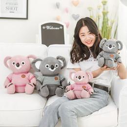 2019 travesseiro de koala Koala Brinquedos De Pelúcia Comic Doll Stuffed Animal Pillow Crianças Cores Mix Presentes Do Dia Das Bruxas Venda Quente 30mn F1 travesseiro de koala barato