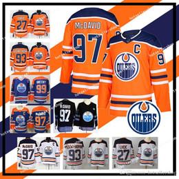 Хоккейные трикотажные изделия mcdavid онлайн-НХЛ Эдмонтон Ойлерс хоккейные майки 97 Коннор Макдэвид 93 Райан Ньюджент-Хопкинс 33 Кэм Талбот 99 Уэйн Гретцки ретро