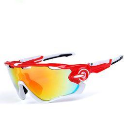 2019 gafas polarizadas SPEIKE Fashion Outdoors Sports Polarized Cycling goggles Jaw Sunglasses para Mujeres Hombres O9270 gafas Intercambiables 3 Lente UV-400