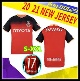 Costume feito uniforme on-line-20 21 J1 League Nagoya Grampus casa de Futebol Início Red 7 JO 10 DENSO 2020 2021 Futebol vermelho camisa preta Futebol personalizado Uniforme feito