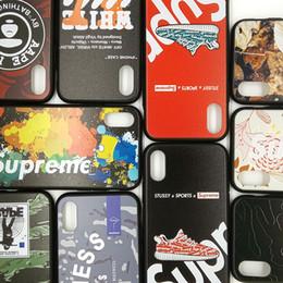 Marca de lujo caja del teléfono celular de la cabeza del mono zapatos para iphone xr 6 7 8 X Plus Xs Max relieve del paisaje TPU cajas del teléfono desde fabricantes