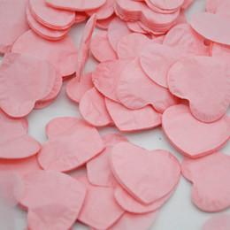 Mariage bleu pêche en Ligne-1000pcs / Pack Multicolor Coeur Forme Rose Bleu Peach Papier Confetti Parti De Mariage Table Décoration Fête D'anniversaire Décoratif 10g