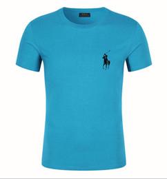 Мужская футболка Ralph Европа США улица хип-хоп верховая езда логотип дизайнер футболка мода шею мужчины женщины пара роскошная рубашка от