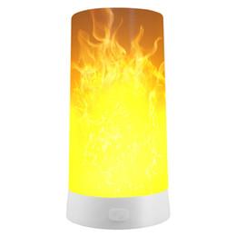 construir panel de luz led Rebajas Nuevo tipo de lámpara de barra magnética portátil Carga USB Restaurante Bar Hotel led Lámpara de llama lámparas portátiles