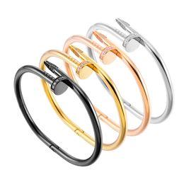 Fashion Limited argent bijoux de créateur de luxe en argent or rose diamant hommes femmes bracelets bracelet à ongles en acier inoxydable bracelets ? partir de fabricateur