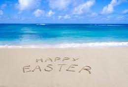 2019 фотография Laeacco Photo Backgrounds Haystack Happy Easter Day Sea Beach Sand Blue Sky Cloud Scenic Photography Backdrop Photo Studio скидка фотография