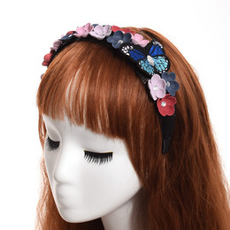 Lolita borboleta das meninas Partido Headband da flor do casamento Mulheres Hairband Vintage de Fornecedores de coroa de quartzo