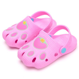 Canada 2019 nouvel été mode enfants chaussures de caverne garçons filles filles pantoufles en plein air enfants plage tongs respirant léger pour bébé supplier slipper for girls kids Offre
