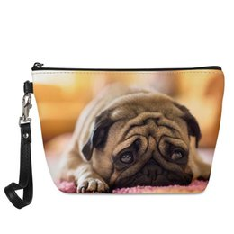 Roomy Pockets Series Funny Dogs Pug Puppie Donut Coffee Pattern ...
