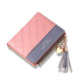 Cartão postal zip on-line-Couro de bolsa de moda bonito das mulheres longo zip titular do cartão da moeda carteira de couro macio cartão de telefone feminino embreagem