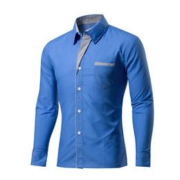 Koreanische formale kleiderhülsen online-2019 Herrenhemden Camisa Masculina Langarmhemd Herren Korean Slim Design Formelle Casual Herrenhemd Größe M-4XL