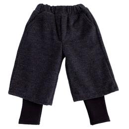 2019 12 meses ropa de marcas para niños WLG girls falso de terciopelo de invierno dos pantalones niños niñas navidad pantalones ocasionales gruesos harem del bebé todo coincide pantalón suelto niños 1-6T
