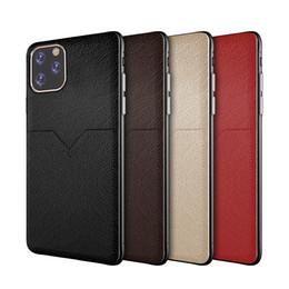 Il nuovo caso di cuoio di lusso per iPhone 11 pro XR XS MAX x 6 7 slot 8 più delle cellule della carta di credito della cassa del telefono per Samsung S8 S9 S10 Inoltre Nota 8 9 da