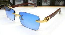 Wholesale 2018 designer de lunettes de soleil best seller piloté à la mode rétro couleur lunettes de soleil carrées en verre pour hommes bois lunettes en corne de buffle venir