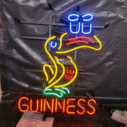 Guinness néon barra de luz on-line-GUINNESS cerveja Neon Sign Light Publicidade Bar Entertainment Club Decoração Art Display Lâmpada de Vidro Armação de Metal 17 '' 24 '' 30''40 ''