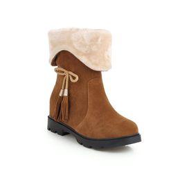 Colégio em 2018 e vento sapatos de camurça plana dois 43 metros de botas curtas mulher vestindo 33-18103 de