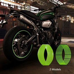 Decalques de honda adesivos on-line-Newbee 16 Pcs Tiras Da Motocicleta Etiqueta Da Roda Reflexiva Decalques Aro Fita de Bicicleta Estilo Do Carro Para YAMAHA HONDA SUZUKI Harley BMW
