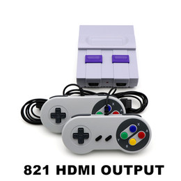 Coolbaby Super HDMI Mini SFC ретро TV Video Classic Game Console портативный плеер 821 двойной геймпад от Поставщики супер игровая приставка