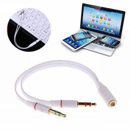 Argentina 3.5mm AUX Audio Micrófono Y Splitter Cable Adaptador de Auriculares Hembra A 2 Cables Masculinos Para PC Ordenador portátil Accesorios cheap mic splitter Suministro
