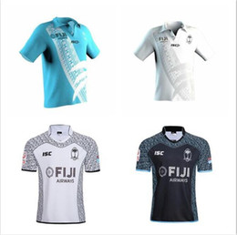 2018 Чемпионат мира по футболу 2019 года Фиджи дом белый Джерси регби Sevens Olympic Shirt 18 19 Национальный 7-й регби Джерси s-3xl от Поставщики дешевые джемперы