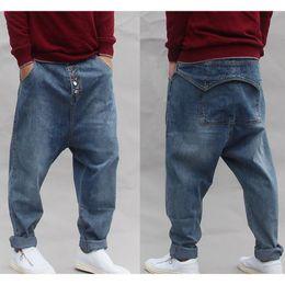 2020 calça jeans novos New Hip Hop Jeans Mens Denim Hip hop calças soltas Rap Jeans para o menino Rapper Moda Denim Men desconto calça jeans novos