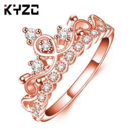 Canada Plate-forme Best-seller bijoux bague bijoux plaqué or rose couronne de diamant couronne coréenne fille Offre