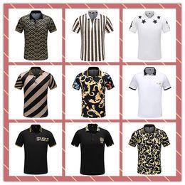 Polo rayure blanche en Ligne-T-shirt de créateur pour homme en coton à rayures 3D blanc en coton de créateur de mode classique classique pour homme Blanc-noir Polo de créateur # 4800