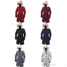 2019 pellicce di porcellana Vendita calda di lusso giù oca cappuccio di pelliccia moda inverno cappotti caldi Parka Inverno USA Cina Canada cotone spesso giacca di cotone giacca imbottita sconti pellicce di porcellana