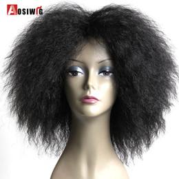 парики человеческих волос ombre курчавые Скидка Короткие Пушистые Волосы Афро Кудрявый Вьющиеся Природные Термостойкие Синтетические Косплей Для Чернокожих Женщин