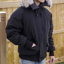 2019 abkühlen männer jacke Mode Winter Unten Hoodies Parkas Kragen Bomberjacke Männer Warmer Mantel Outdoor Markendesigner Casual Jacken Kühlen Parka Hohe Qualität günstig abkühlen männer jacke