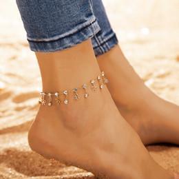 Moda semplice cavigliera con diamante Charm caviglia Bracciale piede catena lega cavigliera femminile da braccialetto di campana indiano fornitori