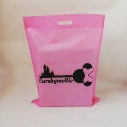 79657cf831 1000 pz / lotto Vendita calda Commerci all'ingrosso Riutilizzabili Borse in  tessuto non tessuto Pieghevole Shopping Eco Bag Può stampare i clienti Logo  per ...