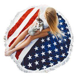 Йога Одеяла Мода Флаг Pattern Большой Тонкий Хлопок Полотенце Женщины Девушки Пляжные Полотенца Лето Йога Коврик cheap thin summer blanket от Поставщики тонкое летнее одеяло
