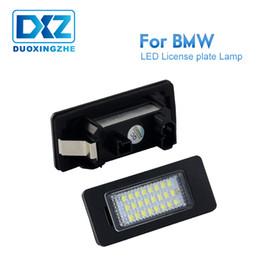 2019 lampe bmw x5 DXZ 2X LED plaque d'immatriculation lumières lampes ampoules 24 SMD ajustement blanc pour BMW E82 E90 E92 E93 E3 E39 E60 E70 X5 F20 E88 erreur gratuit 6000K lampe bmw x5 pas cher