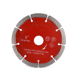 strumento multimaster di fein Sconti Disco da taglio sinterizzato da 5 pollici a lame circolari a disco diamantato prezzo di fabbrica in Cina per calcestruzzo crema di marmo granito 10 pezzi