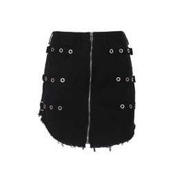 2b3e698d1a99 Summer Sexy Club Women Mini Skirts Casual Gothic OL Ladies Punk Black  Bodycon Zipper Plain High Street Female Fashion Goth Skirt punk fashion  skirt on sale