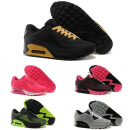 Zapatos de tenis de calidad baratos online-Nike Air Max 90 KPU 2017 High Quality casual Shoes Cushion Alr 90 KPU Mens Classic 90 casual Shoes Trainers Sneakers Man Walking Sports tennis Shoes