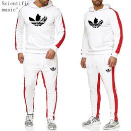 мужская толстовка с капюшоном Скидка 2019 The New  Tracksuit Fashion Men Sportswear Two Piece Sets All Cotton Fleece Thick hoodie+Pants Sporting Suit