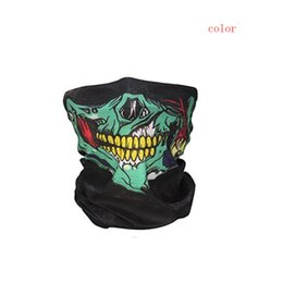 skull half face paintball mask Coupons - Bicycle Ski Skull Half Face Mask Ghost Scarf Multi Use Neck Warmer COD Paintball Ski Sport Headband Game Masks#y25