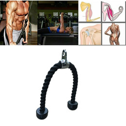 "Cabos de exercício on-line-27,6 ""Tricep Rope Multi Gym Cable Attachment Press Push Pull Down Arm Exercise"