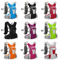 Taşınabilir Yürüyüş Sırt Çantası 12L Spor Sürme Koşu Omuzlar Açık Çanta Polyester Sırt Çantası Tırmanma Bel Çantası 10 Renkler ZZA1068 cheap hiking waist backpack nereden yürüyüş bel sırt çantası tedarikçiler