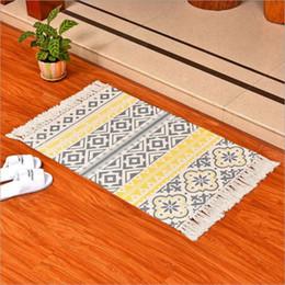 Florale klassische teppiche online-Ethnische Blumenschlafzimmerküche des gelben und grauen Bereichswollteppichs moderne Fußbodenmatte marokkanische Hauptdekoration Quastendecke