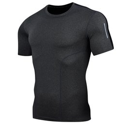 Calda asciugatura rapida camicia sportiva uomini di compressione in esecuzione t-shirt fitness calcio stretto tuta sportiva di calcio tuta sportiva da
