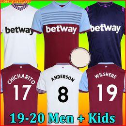 2020 terceira camisola 19 20 West Ham camisa de futebol United 2019 2020 em casa longe NOBLE CHICHARITO jerseys ANDERSON ARNAUTOVIC ANTONIO camisa de futebol uniformes kit soccer jersey football shirt terceira camisola barato